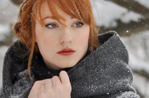 amateur photo Alina Kovalenko in the snow