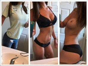 amateur photo Revealing her body one step at a time