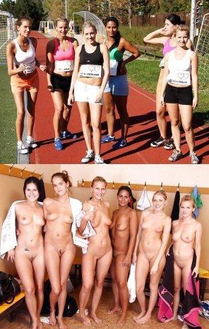 amateur photo The track team