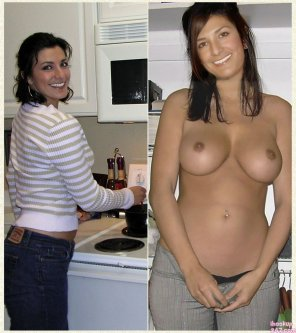 amateur photo cutie in the kitchen