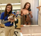 amateur photo Pet Store girl