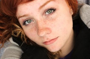 amateur photo Red hair, green eyes and freckles!