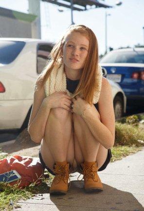 amateur photo Sweet upskirt girl.