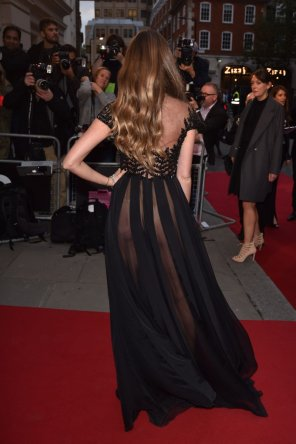 amateur photo Alicia Rountree Ass Cheeks in Sheer Dress GQ Men Of The Year Awards 2015 London