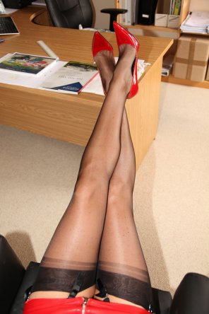 amateur photo She deserves to put her feet up
