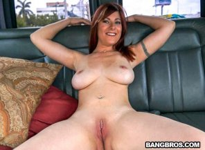 amateur photo Alessa Snow in the Bang Bus