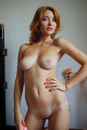 amateur photo Pretty face, mild tan lines, nice body