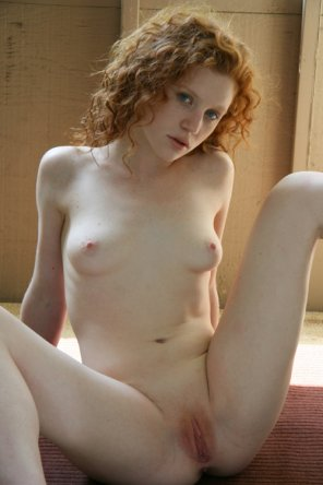 amateur photo Curly redhead