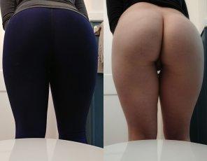 amateur photo a peek under my workout pants ;)