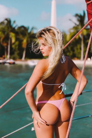amateur photo Pink swimwear
