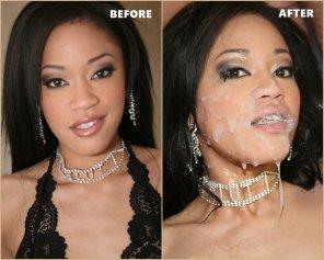 amateur photo Jayla Starr - Cumbang - Before & After