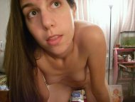 Cute amateur naked in her room