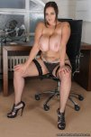amateur photo Waiting in her office