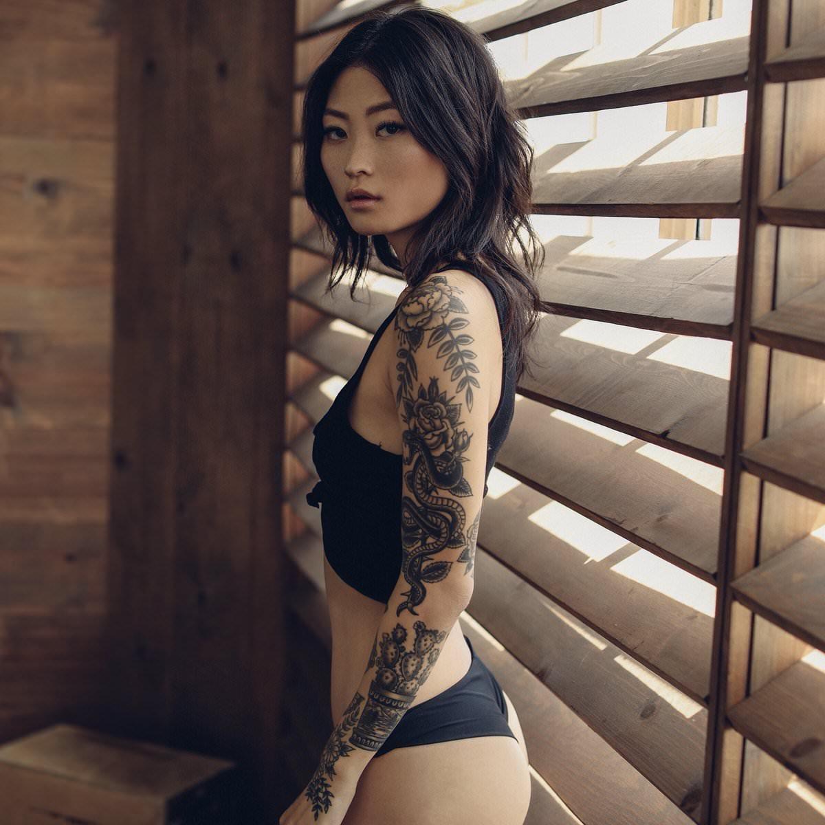 tattooed asian porn