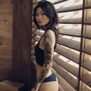 amateur photo Tattooed Asian Hottie