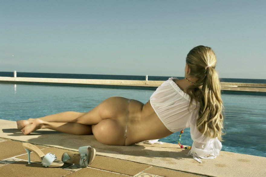 the Ass at the Pool at the Sea Porn Photo
