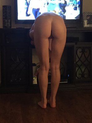 amateur photo Bending over
