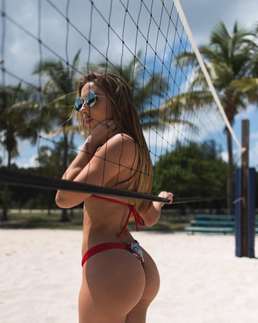 Playing volleyball Porn Photo