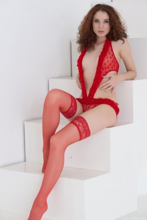 amateur photo Angelina in lingerie and stockings