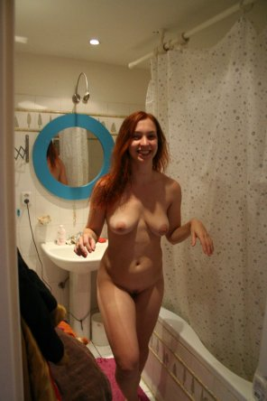amateur photo Redhead Surprise