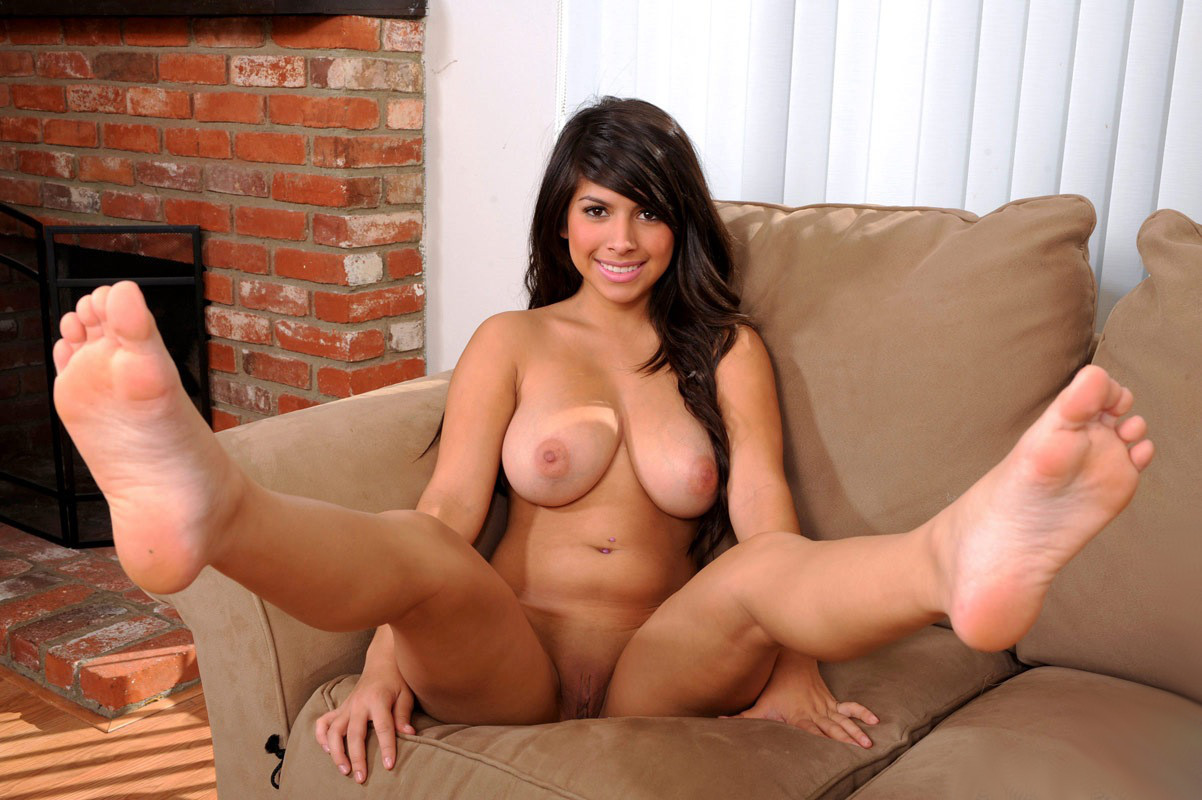 Sexy busty bbw shows off feet legs and ass in nude pantyhose tnaflix porn pics
