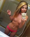 amateur photo what a cute phone case. and what a cutie she is!