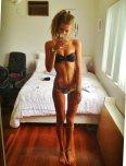amateur photo Petite in a bikini