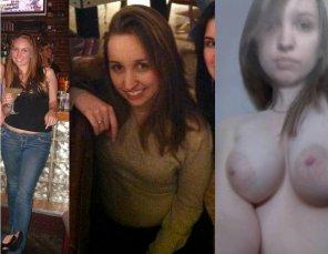 amateur photo Pale slut shows tits