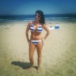 amateur photo Blue and white