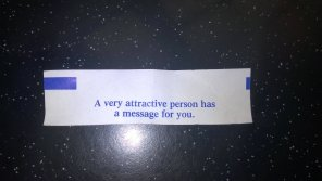 amateur photo Got this at a Chinese buffet, any one here have my message?