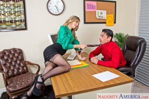 amateur photo Jillian Janson and Ryan Driller in Naughty Office