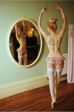 amateur photo Ballerina in Stockings