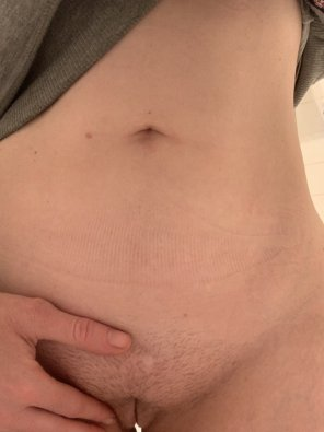 amateur photo Fancy a quickie? Pants are off, should I lose the jumper too, or just bend me over already... 36[F]