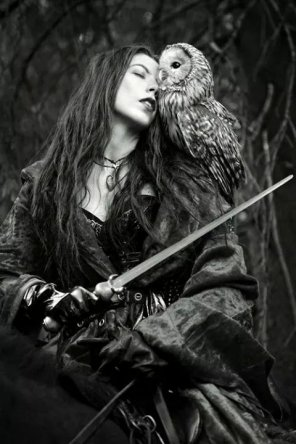 amateur photo A Lady and her Owl