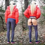 amateur photo Trekking in yoga pants