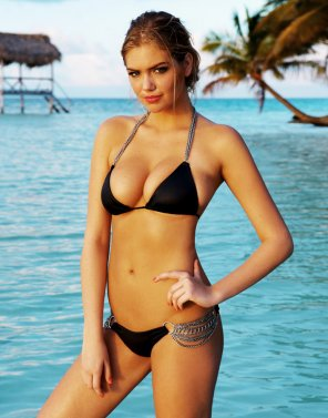 amateur photo Kate Upton in a Black Bikini