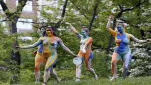 amateur photo All Female Cast perform NUDE version of Shakespeare's Tempest in Central Park