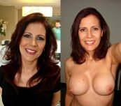 amateur photo Milf on and off