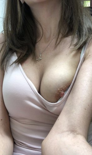 amateur photo Nip slip at work [f]