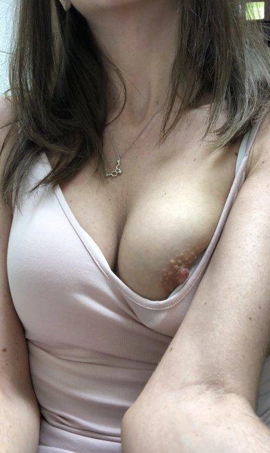 Nip slip at work [f] Porn Photo