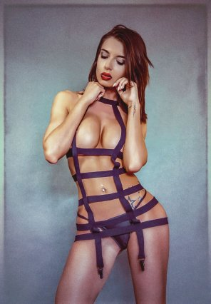 amateur photo Standing in straps