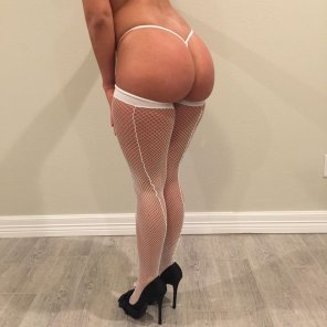 amateur photo Another angle of my white lingerie shoot!!! Enjoy!!! Bootylicious!!!!