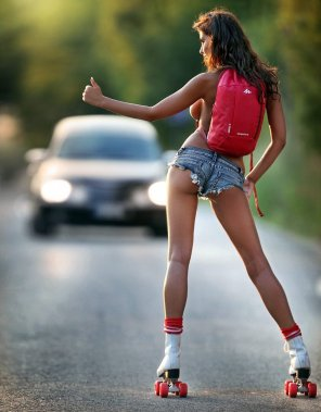 amateur photo Give Roller Girl a Ride..