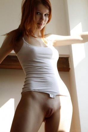 amateur photo Red, proud and pantless