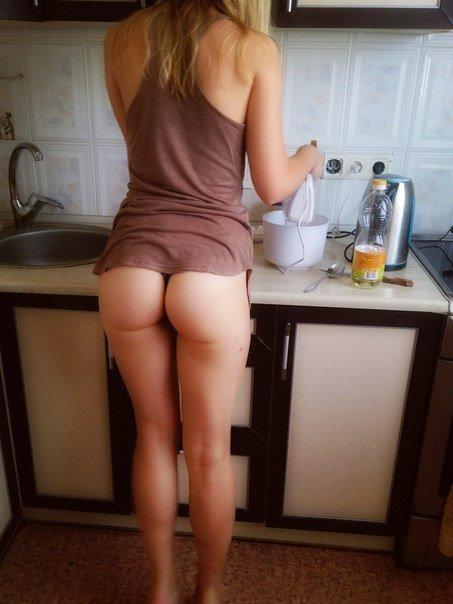 In the kitchen Porn Photo