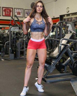 amateur photo Gym goddess