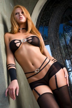amateur photo Redhair Lingerie