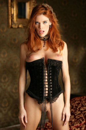 amateur photo Corset, choker, and those eyes