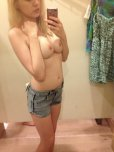 amateur photo Trying on some shorts