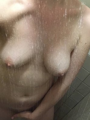 amateur photo One more.. and yes this is dorm shower [f]